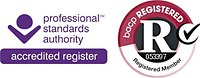 Qualifications and Experience. BACP Register logo